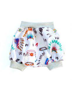 Baby harem shorts indian headdress