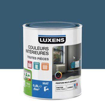 Peinture bleu baltique 1 LUXENS Couleurs intérieures mat 0.5 l | Leroy Merlin