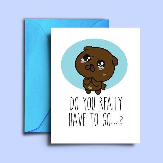 Cute Farewell Goodbye Card For Coworkers Family Friends Neighbors Teachers A5 Blank Card Do Farewell Cards Going Away Cards Goodbye Cards