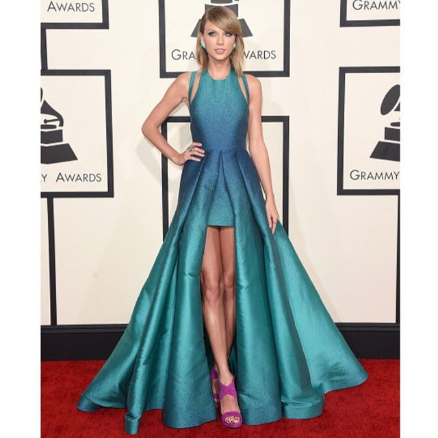"""@taylorswift never ceases to amaze us... In ELIE SAAB Ready-to-Wear Spring Summer 2015 #Grammys"""