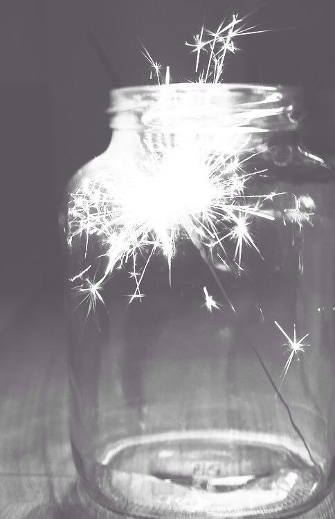 Sparks in a jar