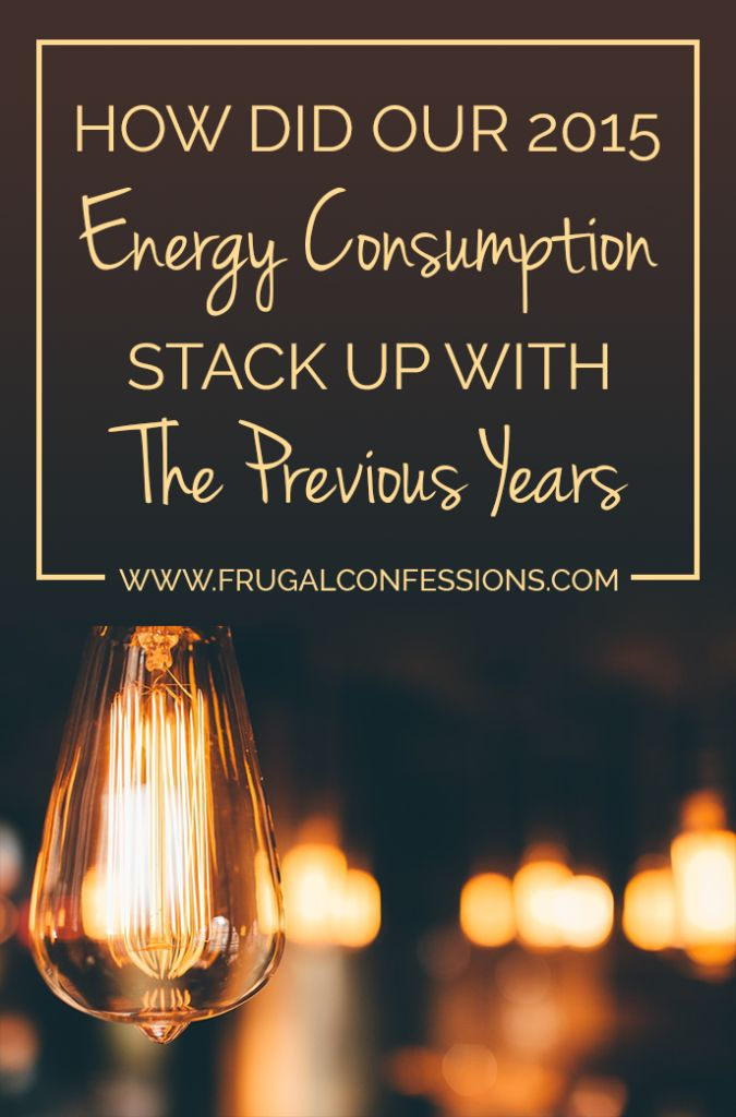 How did Our 2015 Energy Consumption Stack Up with Previous Years? -- Here's how we managed our energy use the past year. | http://www.frugalconfessions.com/save-me-money/how-did-our-2015-energy-consumption-stack-up-with-previous-years.php