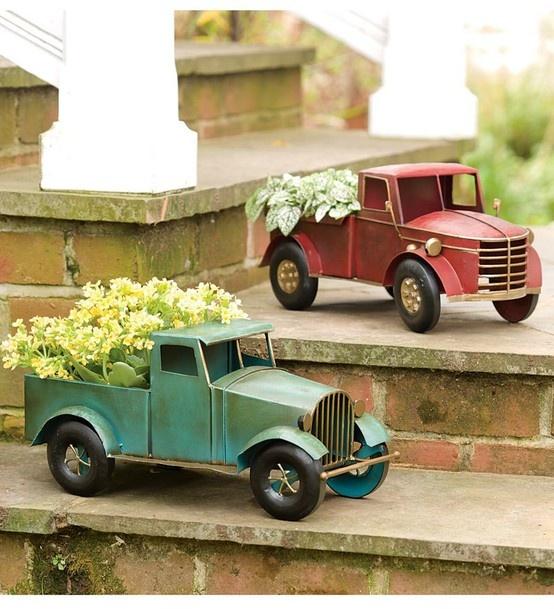Vintage Toy Trucks Part - 29: Metal Vintage Truck Planters - Way Cool. | Recycle - Repurpose - Reuse |  Pinterest | Vintage Trucks, Planters And Metals