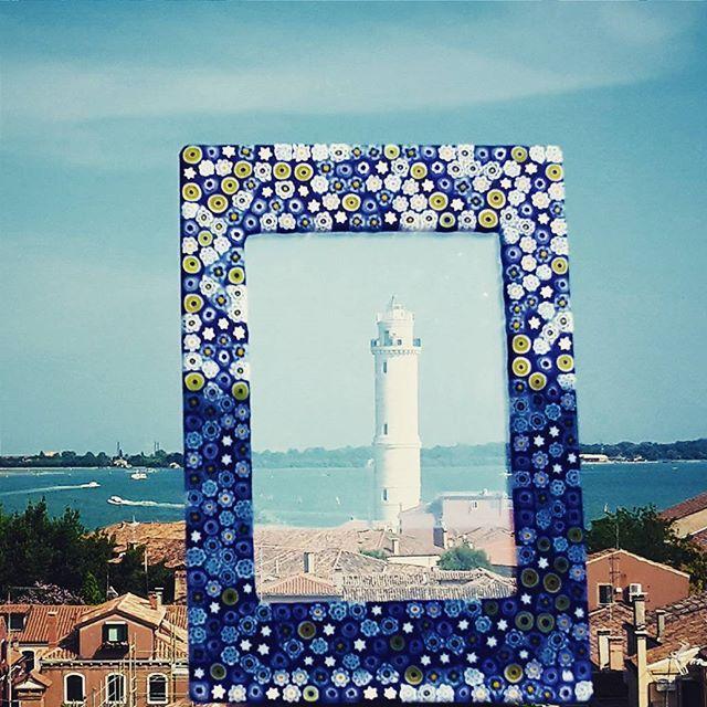 Lighthouse portrait from #Murano! #yourmurano #muranoglass #murrine