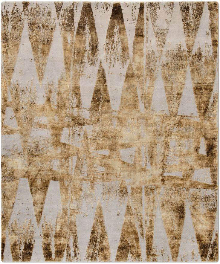 Buy Diamonds Vintage by Knots Rugs - Quick Ship designer Rugs from Dering Hall's collection of Contemporary Geometric Abstract New.
