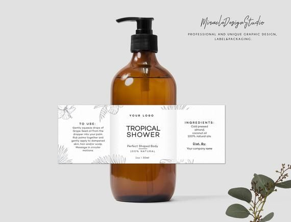 Cosmetic label design - Custom product label - Professional