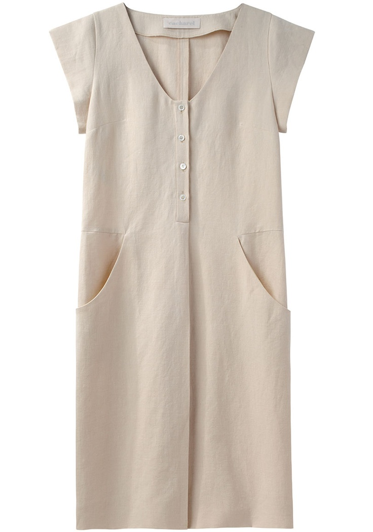 Cacharel / Cap Sleeve Linen Dress