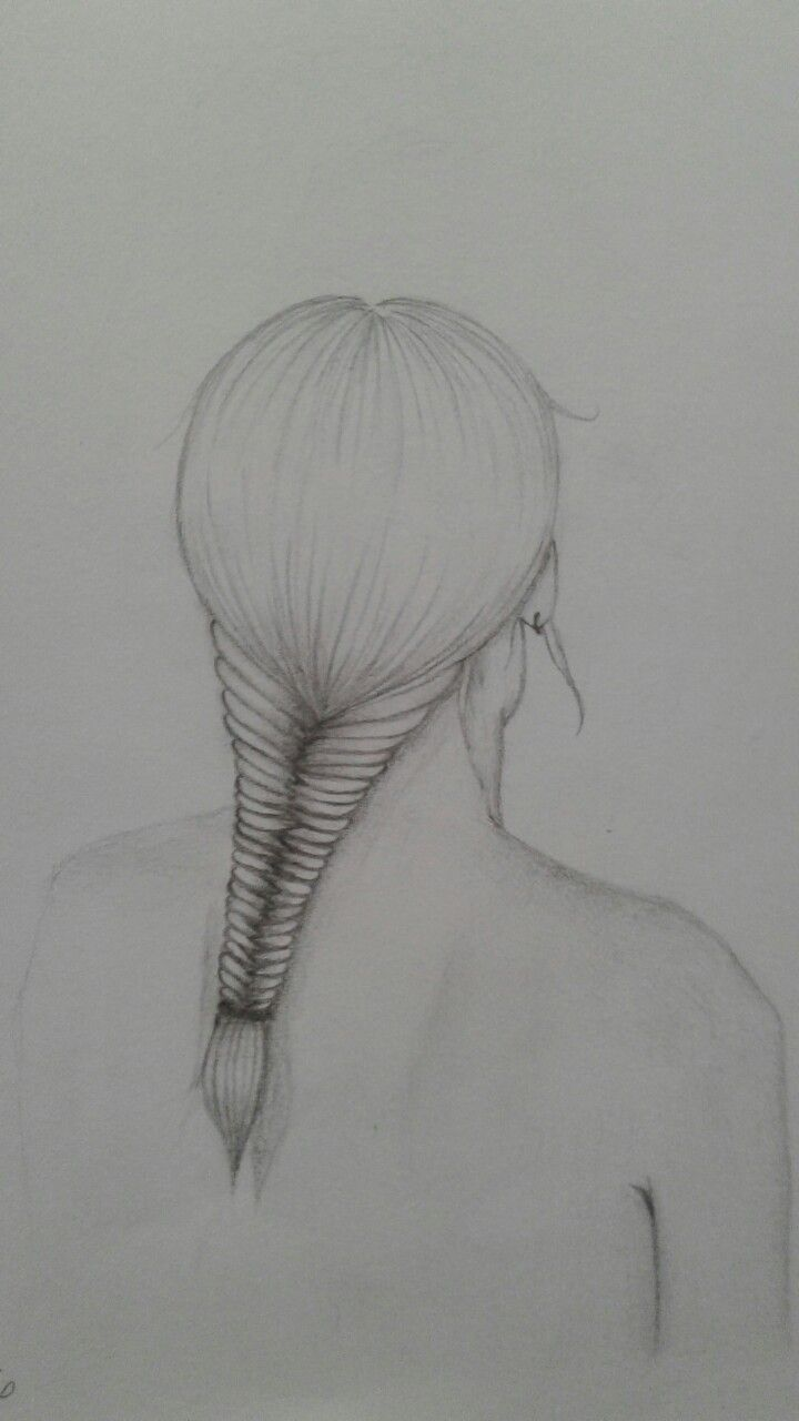#drawing of a fishtail plait 10.7.2016