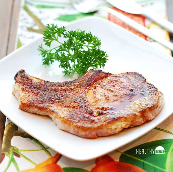 Baked Pork Chops / #lowcarb shared on https://facebook.com/lowcarbzen