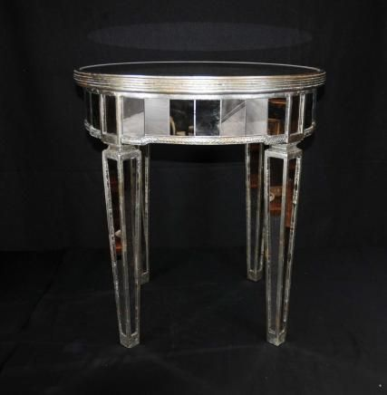 Mirrored Side Table Art Deco Cocktail Table Mirror
