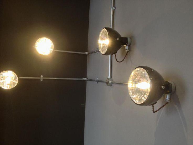 Motor bike head lights. #Bespoke_lighting