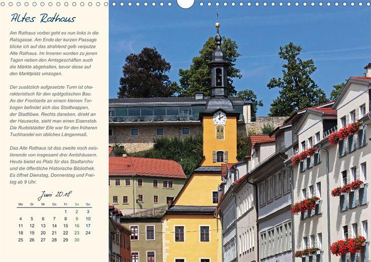 """Städte- und Regionalkalender """"Rudolstadt – mein Spaziergang durch den historische Stadtkern"""", Kalenderblatt Juni: Altes Rathaus"""