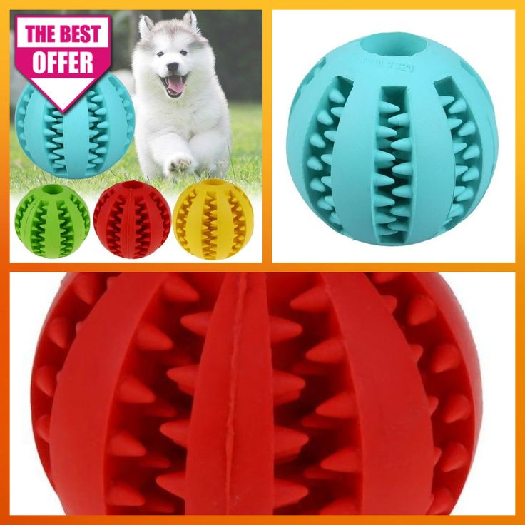 Dog Toys For Big Dogs That Chew Interactive Rubber Balls Pet Teeth Cleaning Products