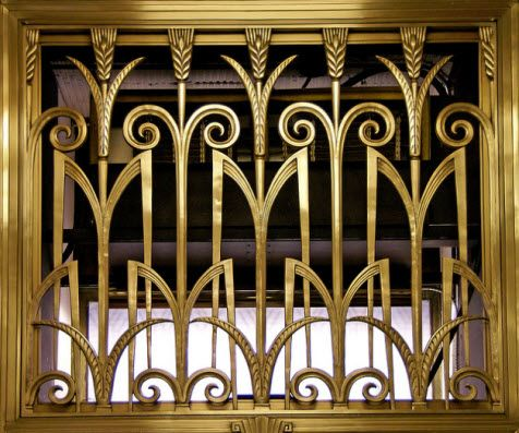 Art deco interior stair railing iron pinterest art for Art deco interior design elements