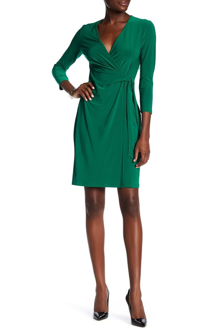 Ensure you avoid the pinches this St. Paddy's Day in this super flattering wrap dress.