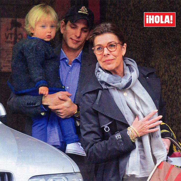 majesticpierrecasiraghi:  Exclusive images inHELLO !, Happiness Caroline of Monaco after meeting her first grandchildCarolina has gone to meet his third grandchild , the first child , born earlier this week in London