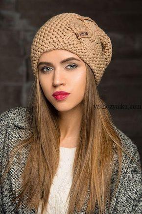 шапка платочной вязкой с косой модная шапка спицами видео урок