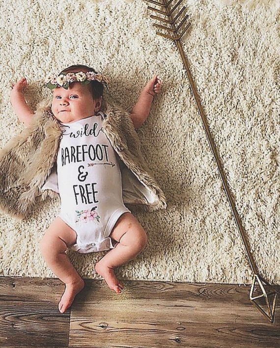 WILD BAREFOOT and FREE/ Baby/ Bodysuit/ by Athomewithaverygrace