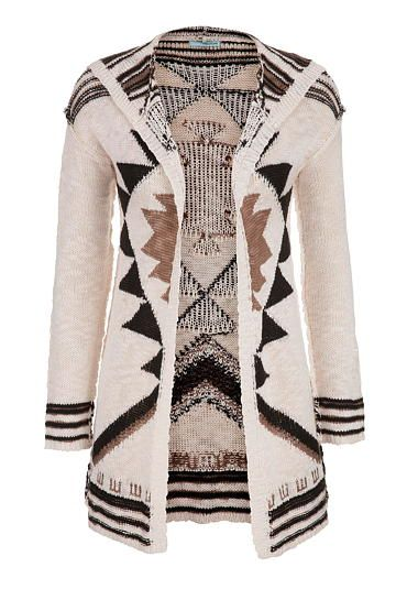 thick stitch cardigan in ethnic pattern (original price, $44) available at #Maurices
