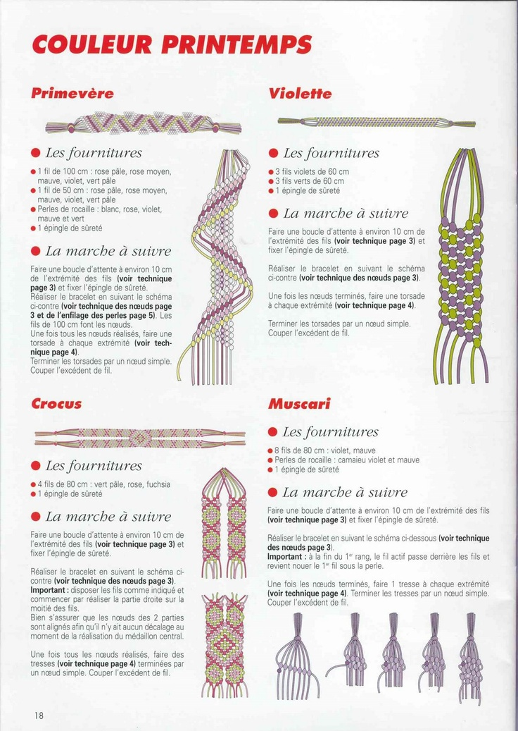Diseños de Pulseras en #Macrame