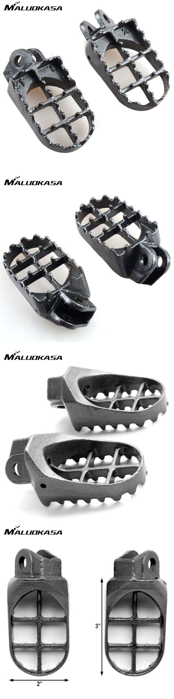 MALUOKASA Motocross Foot Pegs Pedal Footrest For Kawasaki KLX400 KX500 For Suzuki DRZ400/RM125 250 DR-Z 400E 400S 2000-07 Auto
