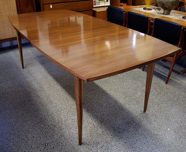 Large Vintage Broyhill Emphasis Walnut Dining Table I