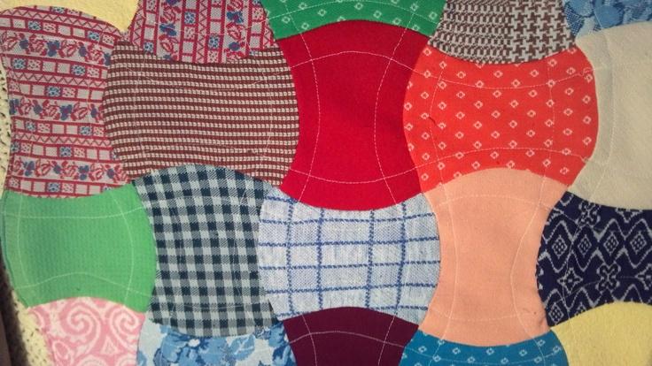 """""""Drunkard's Path"""" quilt design. Quilt maker, Alice Shaddix"""