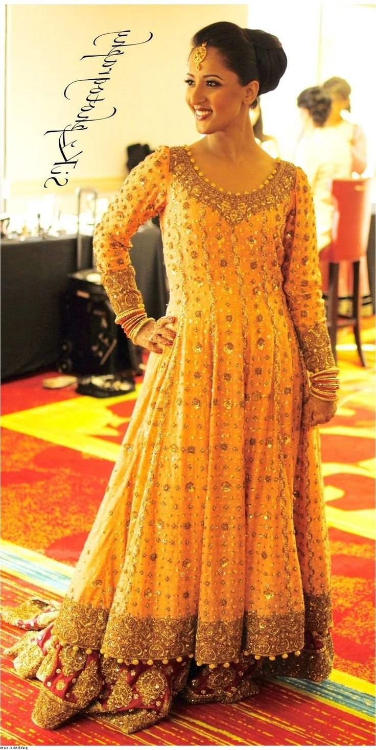 Yellow Dresses For Weddings Pakistani