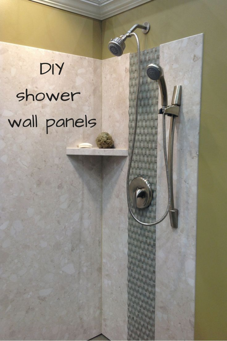 "DIY shower wall panels can have a dramatic look. This project uses a PVC backed composite wall system with a digital image of a ""calabria"" stone pattern. Another cool feature of this project is the basket weave glass tiles in the center!  (scheduled via http://www.tailwindapp.com?utm_source=pinterest&utm_medium=twpin&utm_content=post1079201&utm_campaign=scheduler_attribution)"