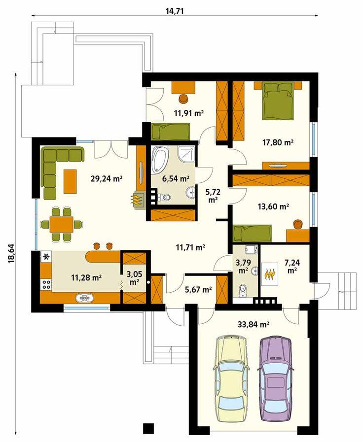Domy parterowe zyskują coraz większą popularność. Prosta bryła, ułatwiona komunikacja (brak schodów), krótki czas budowy to kluczowe zalety. Projekt Kaszmir wpisuje się we współczesne trendy: prosta bryła, otwarta przestrzeń części dziennej, duże przeszklenia. Optymalna powierzchnia oraz praktyczny układ wnętrza czynią go bardzo atrakcyjnym. W budynku przewidziano wyraźny podział na część dzienną, nocną i gospodarczą. Układ domu daje wiele możliwości ciekawej aranżacji. Z praktycznych…