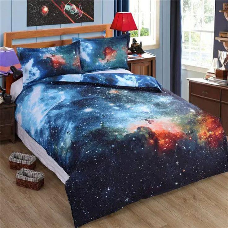 10 variants galaxy queen size 3d bedding sets