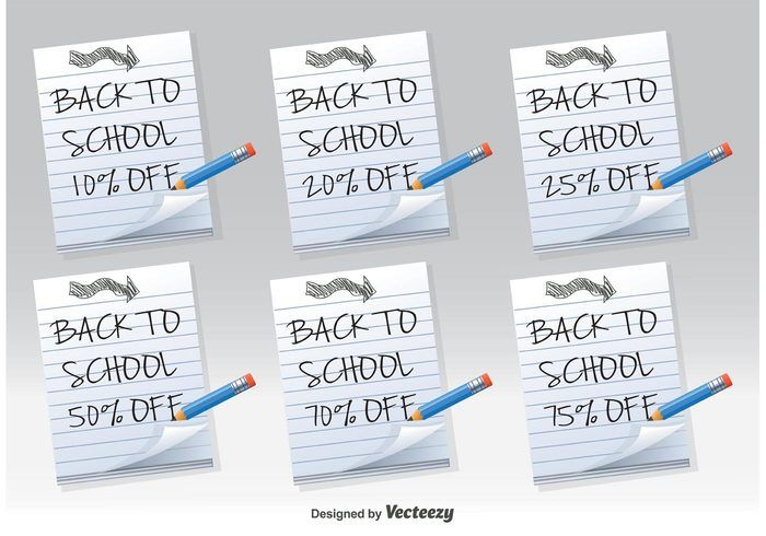 Free vector Back to School Discount Notes #33474