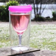 Vino2Go Portable Wine Glass | | Travel Wine Sippy Cup