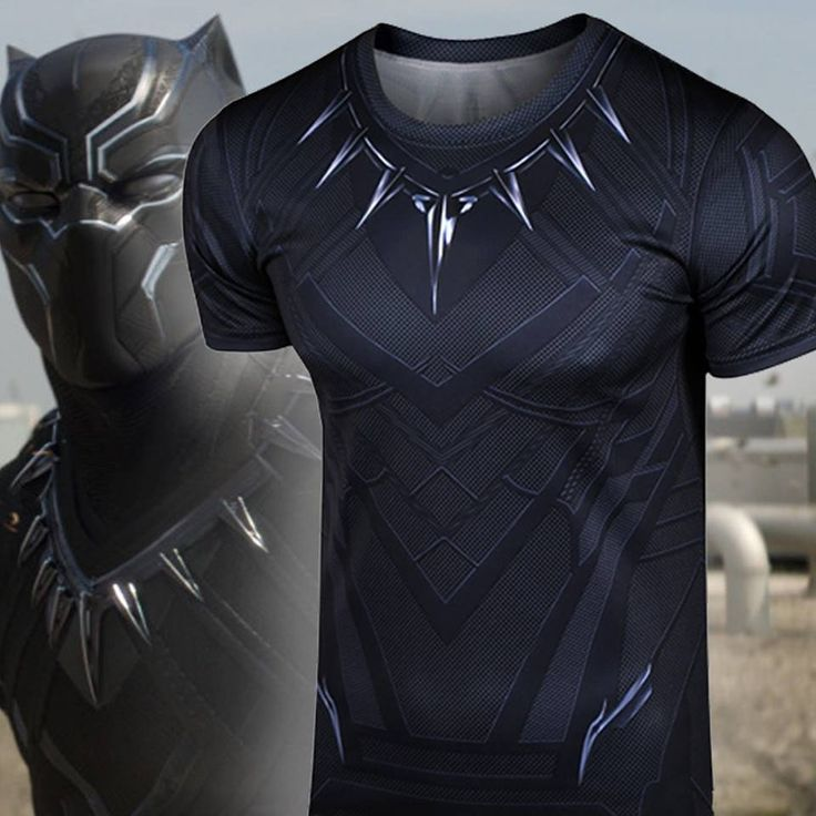 Black Panther, the king of Wakanda. Item Type: Tops Tops Type: Tees Pattern Type: Print Sleeve Style: normal sleeve Style: Fashion Fabric Type: Broadcloth Hooded: No Material: Polyester Collar: O-Neck