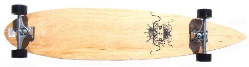 Krown Krown Logo 2 Complete Longboard Skateboard by Krown. $55.26. Amazon.com                The Krown Logo 2 longboard is a great choice for commuting around campus or town. The board, which measures 43 inches long and 9 inches wide, is adorned with a natural wood-colored deck with a logo in the middle.   Specifications  Length: 43 inches Width: 9 inches Deck: 10-ply Canadian maple Wheels: 70mm wheels Bearings: ABEC-7  Trucks: 6.0 aluminum alloy                        ...