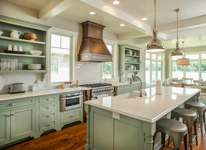 Best 25 green kitchen cabinets ideas on pinterest green for Kitchen color planner