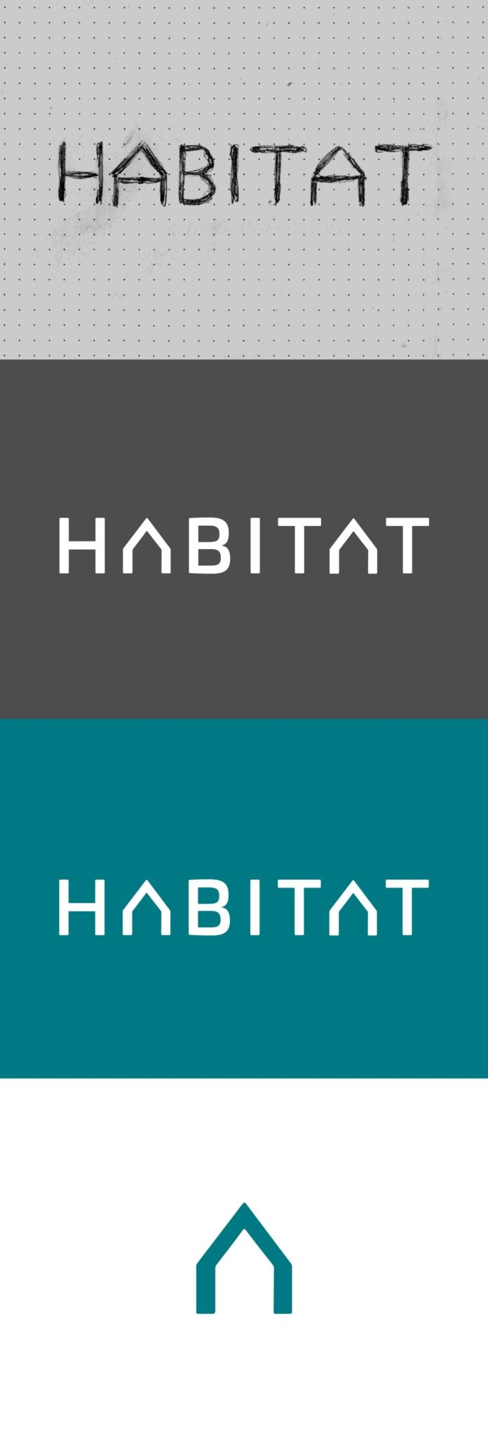 HABITAT logo design type version. This was my second proposal for the new HABITAT logo. #logodesign #logotype #logoproces