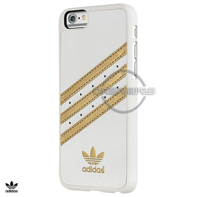 Adidas Coque de Téléphone Or et Blanc