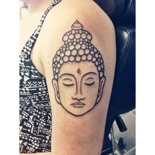 Arm Buddha tatttoo designs - Our first design is simple and to the point but looks amazing.