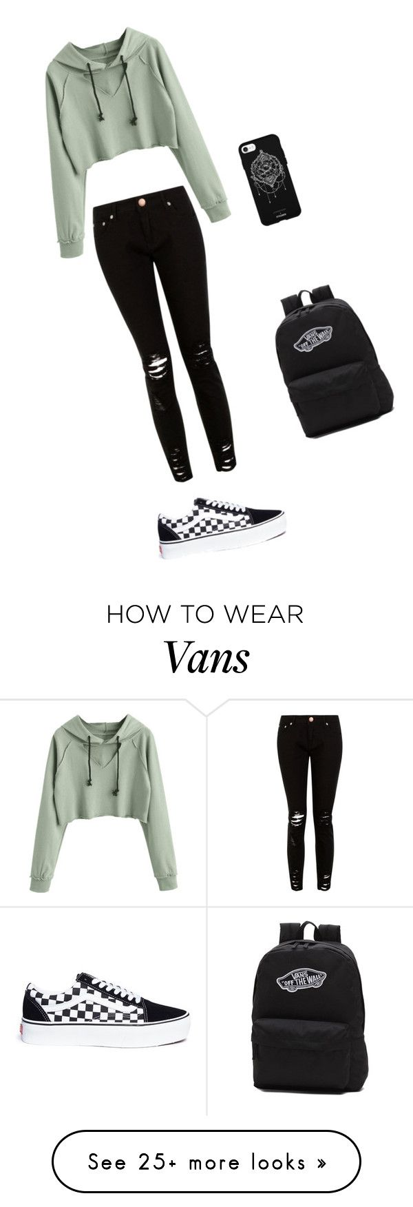 """""""My Style"""" by dvddy-kayla on Polyvore featuring Vans and Fifth & Ninth"""
