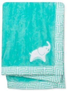 Jonathan Adler Crafted by Fisher Price Jonathan Adler® Crafted by Fisher-Price® Elephant Plush Blanket in Green