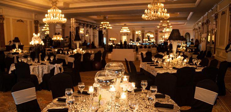 Black And Ivory Wedding Reception Gallery Decoration Ideas