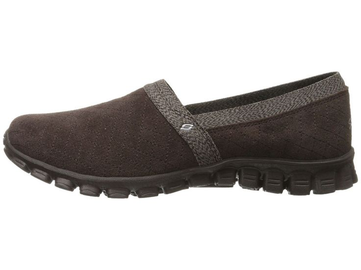 Skechers Women EZ Flex 2-Cuddled-Up 22780 Memory Foam Slip-on Shoe  Chocolate 7.5