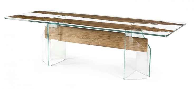 """#Glass remembers the #Venice lagoon, #wood calls to mind """"briccole"""", the typical oak poles guiding boats along the Venetian canals. #Table #Venezia, our small way to pay tribute to """"the city of #love"""" & the #beautiful place we are #living in! 