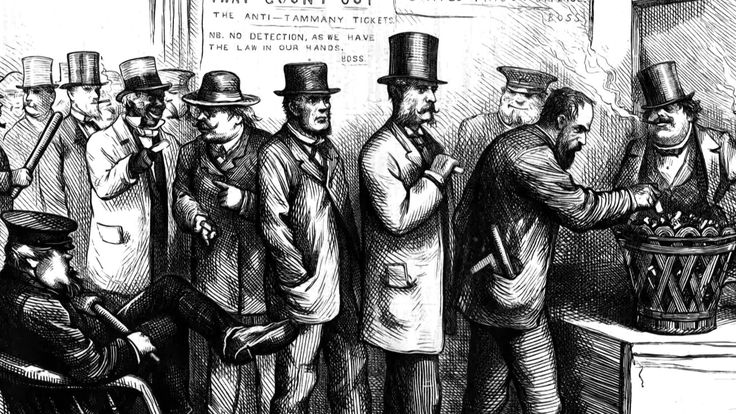 The head of Tammany Hall misused his power and political influence.