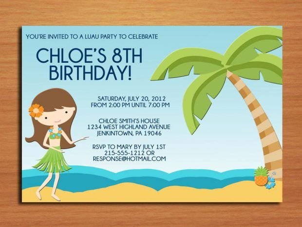58 best Party Invitations images – Free Printable Beach Party Invitations