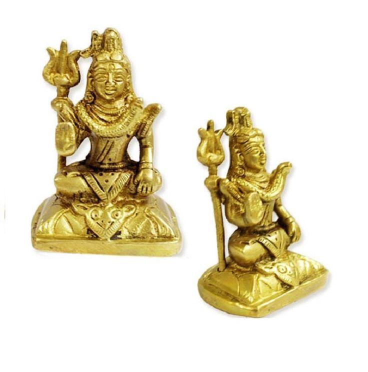 Lord Shiva Idol In Brass Religious God Sculpture Festival