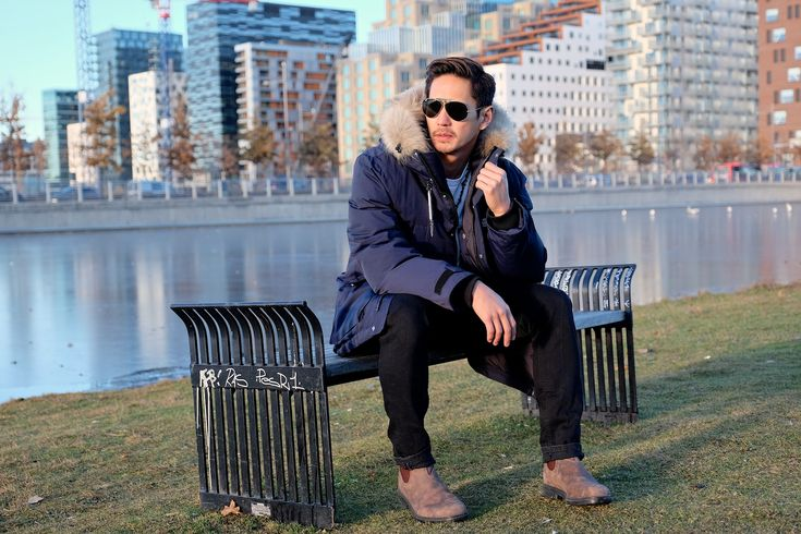 Fashion Blogger The Filo Dapper in our Madison Down Parka. Find it here: http://bit.ly/2gT9klY