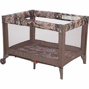 Camo Playard Play Pen Playpen Realtree Folding Compact Baby Boy Wheels Funsport | eBay