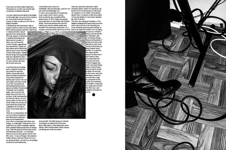 Mushy. Dark as only a woman can be, photo Francesco Merlin, words Silvia Schirinzi from Pizza n. 6. A Magazine About Italian Style and Culture, art direction Alessandro Gori Laboratorium mmxiv